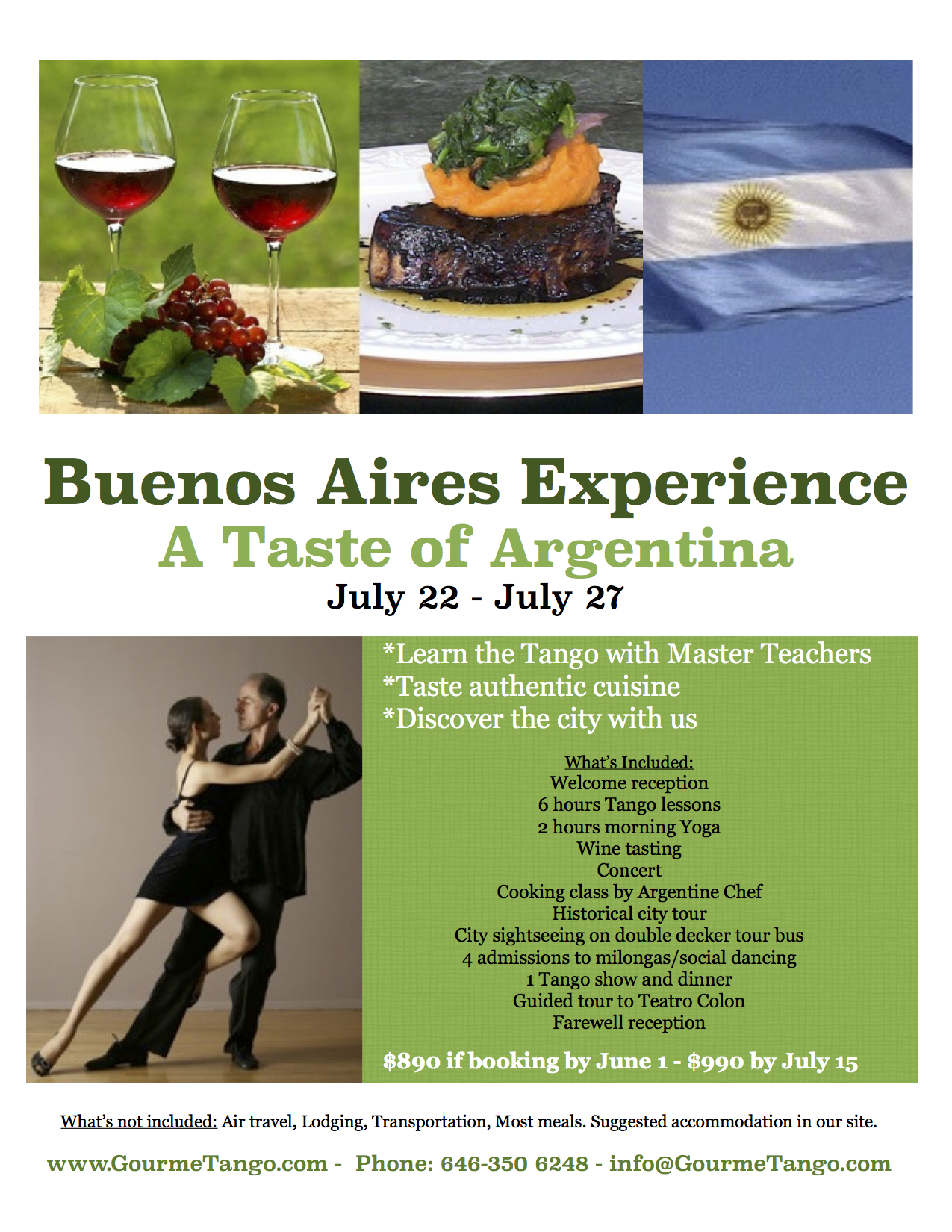 Buenos Aires Experience Trip July 22-27, 2014